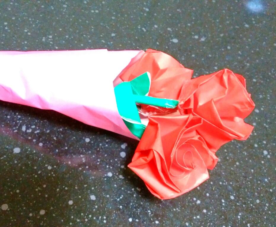 我が子がくれた折り紙花束